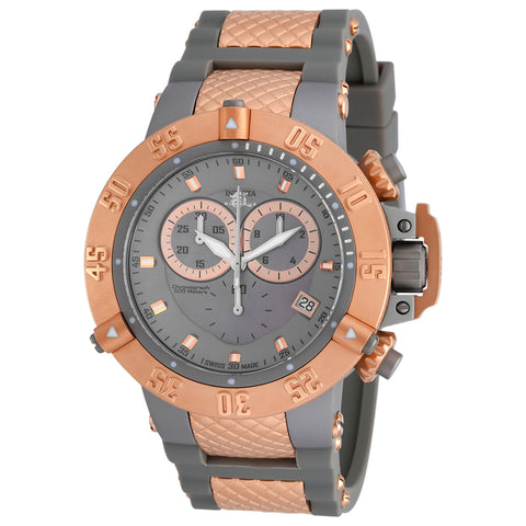 INVICTA Subaqua Men 50mm Stainless Steel Rose Gold + Titanium Titanium dial G10.211 Quartz 17213