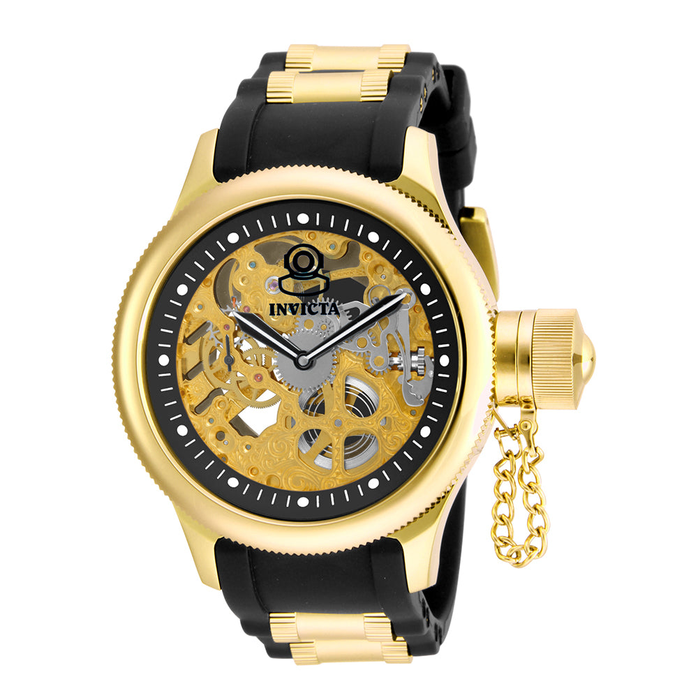 INVICTA Russian Diver Men 51.5mm Stainless Steel Gold Black dial 3600K Mechanical 17265