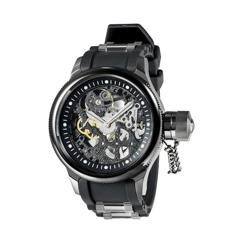 INVICTA Russian Diver Men 51.5mm Stainless Steel Gunmetal + Black Black dial 3600K Mechanical 17275