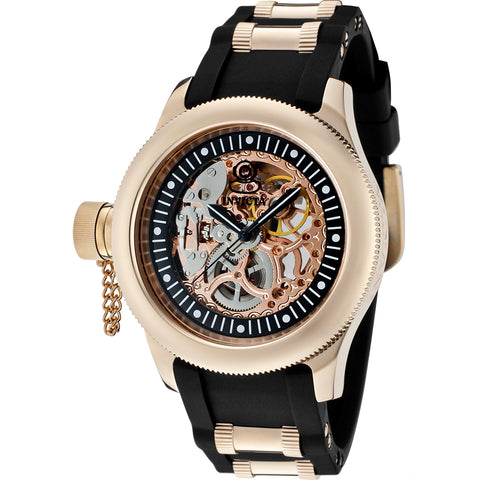 INVICTA Russian Diver Lady 42mm Stainless Steel Rose Gold Black dial TY2807 Mechanical 1826