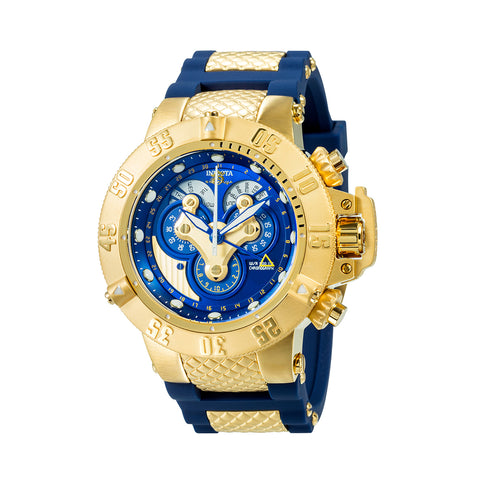 INVICTA Subaqua Men 50mm Stainless Steel Gold + Stainless Steel Blue dial 5040.F Quartz 18521