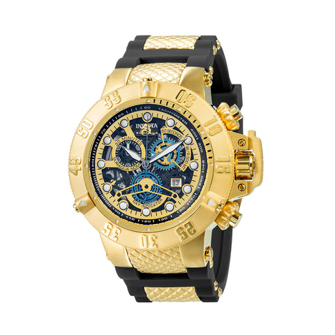 INVICTA Subaqua Men 50mm Stainless Steel Gold Black+Gold dial 8172/220 Quartz 18526