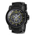 INVICTA S1 Rally Men 52mm Stainless Steel Black Black+Yellow dial VD53 Quartz 19324