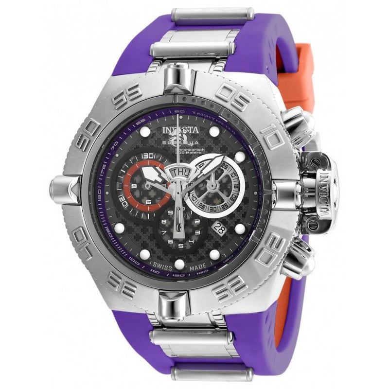 INVICTA Subaqua Men 50mm stainless steel Black+Purple+Gunmetal dial 5050.E Quartz 19481