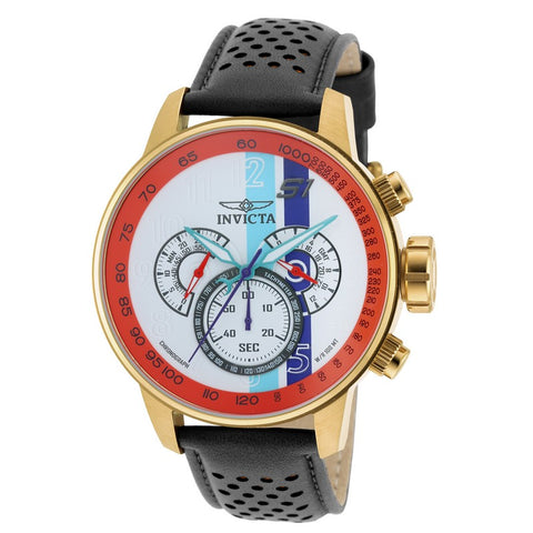 INVICTA S1 Rally Men 48mm Gold Plated + Stainless Steel Gold White+Orange+Blue+Purple dial VD54 Quartz 19901