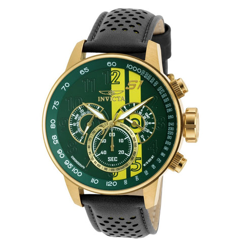 INVICTA S1 Rally Men 48mm Gold Plated + Stainless Steel Gold Green+Yellow dial VD54 Quartz 19902