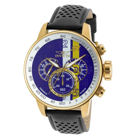 INVICTA S1 Rally Men 48mm Gold Plated + Stainless Steel Gold Purple+White+Yellow dial VD54 Quartz 19903