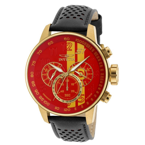 INVICTA S1 Rally Men 48mm Gold Plated + Stainless Steel Gold Red+Yellow dial VD54 Quartz 19904