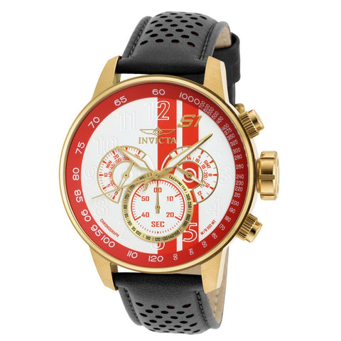 INVICTA S1 Rally Men 48mm Gold Plated + Stainless Steel Gold White+Red dial VD54 Quartz 19906