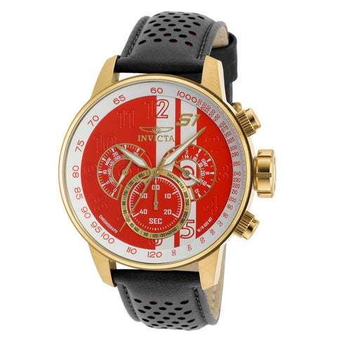 INVICTA S1 Rally Men 48mm Gold Plated + Stainless Steel Gold Red+White dial VD54 Quartz 19907