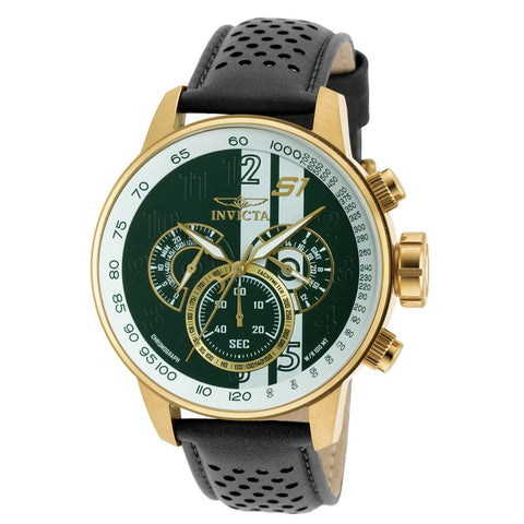INVICTA S1 Rally Men 48mm Gold Plated + Stainless Steel Gold Green+White dial VD54 Quartz 19908