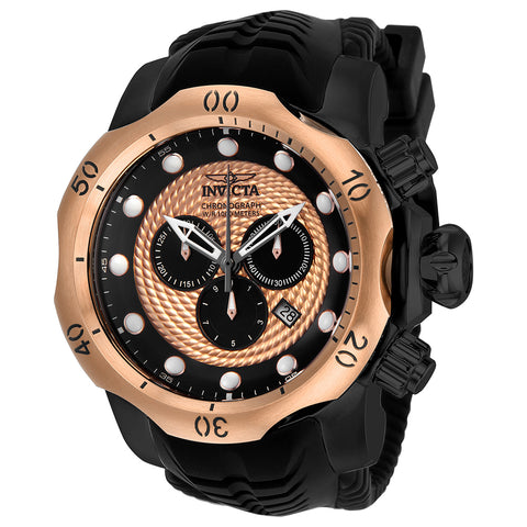 INVICTA Venom Men 53.7mm Stainless Steel Rose Gold + Black Black+Rose Gold dial 5040.D Quartz 20445