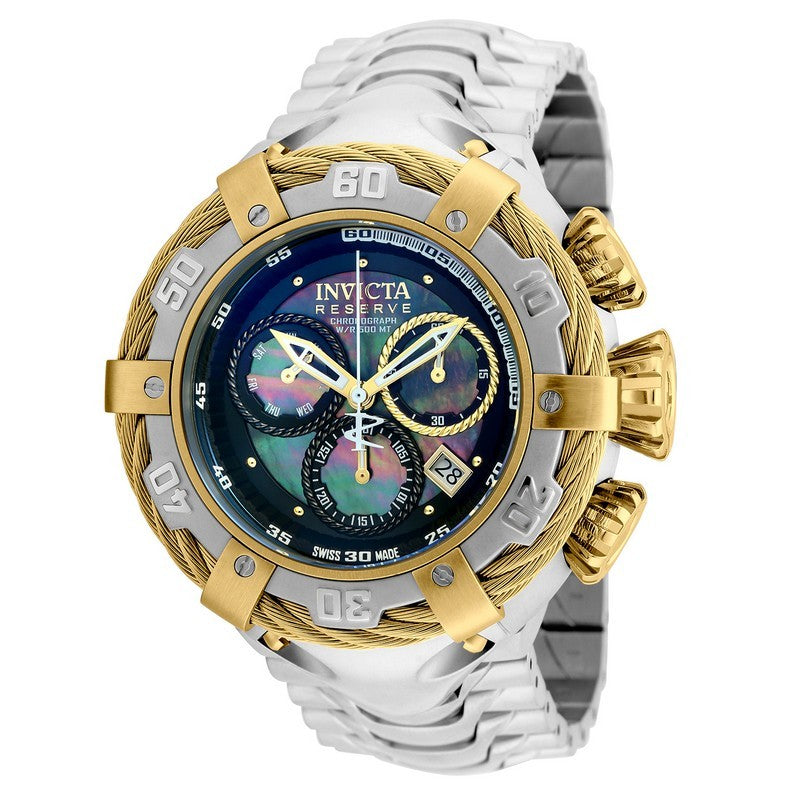 INVICTA Bolt Men 54.5mm Stainless Steel Gold + Stainless Steel Black dial Z60 Quartz 21355