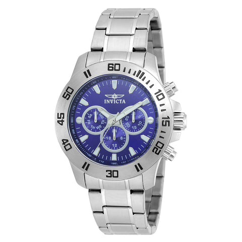 INVICTA Specialty Men 45mm stainless steel Blue dial VD54 Quartz 21482
