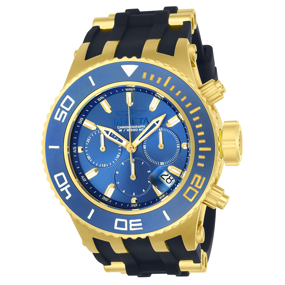 INVICTA Subaqua Men 52mm Stainless Steel Gold + Blue Blue dial Z60 FE Quartz 22366
