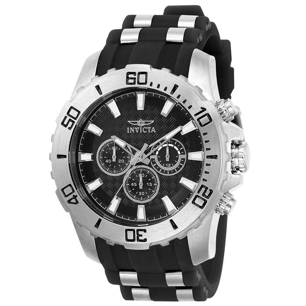 INVICTA Pro Diver Men 50mm stainless steel Black dial VD54 Quartz 22555