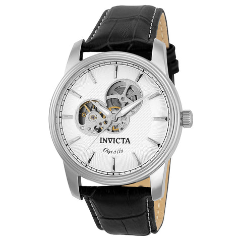 INVICTA Objet D Art Men 44mm stainless steel Silver dial 2650 (Nickel) Automatic 22616
