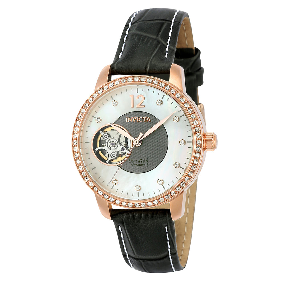 INVICTA Objet D Art Lady 34mm Stainless Steel Rose Gold White+Grey dial NH38A Automatic 22623