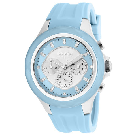 INVICTA Angel Lady 42mm stainless steel Silver+Light Blue dial 9238/1970 Quartz 22675