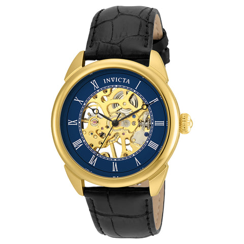 INVICTA Specialty Men 42mm Stainless Steel Gold Blue dial STBL-005J(IPG) Mechanical 23536