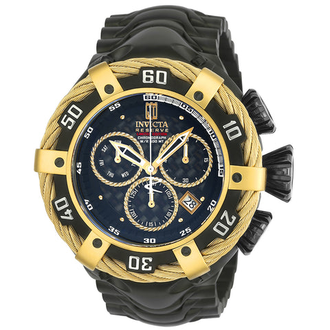 INVICTA JT Men 54.5mm Stainless Steel Gold + Black Black dial Z60 Quartz 23611