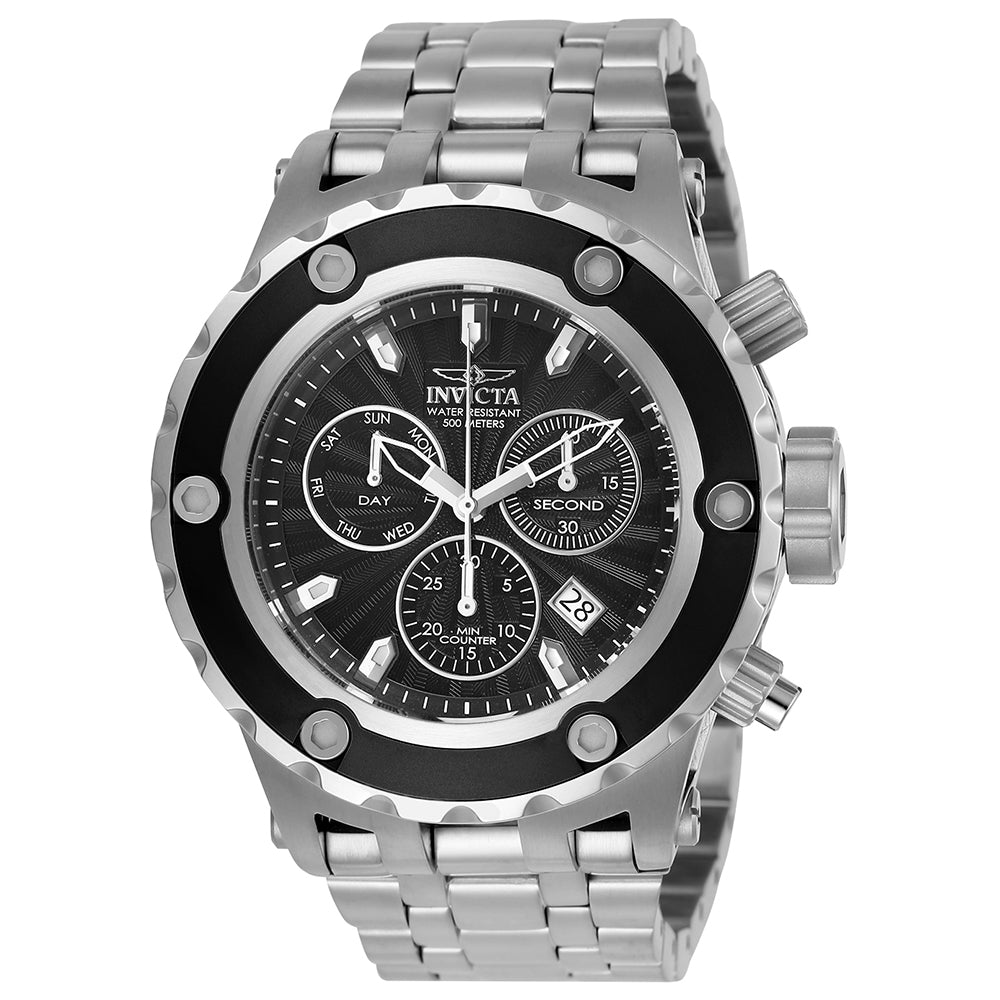 INVICTA Subaqua Men 52mm Stainless Steel Black + Stainless Steel Black dial Z60 Quartz 23919