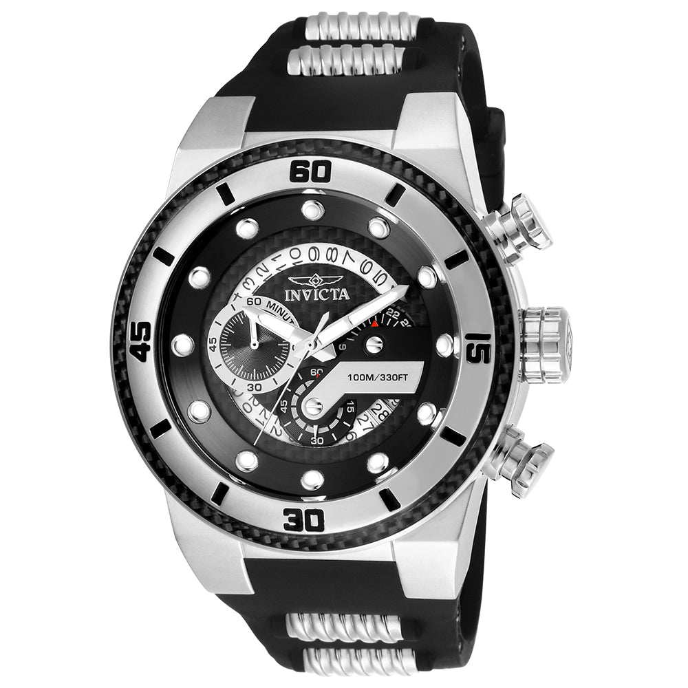 INVICTA S1 Rally Men 51mm stainless steel Black dial VD53 Quartz 24221