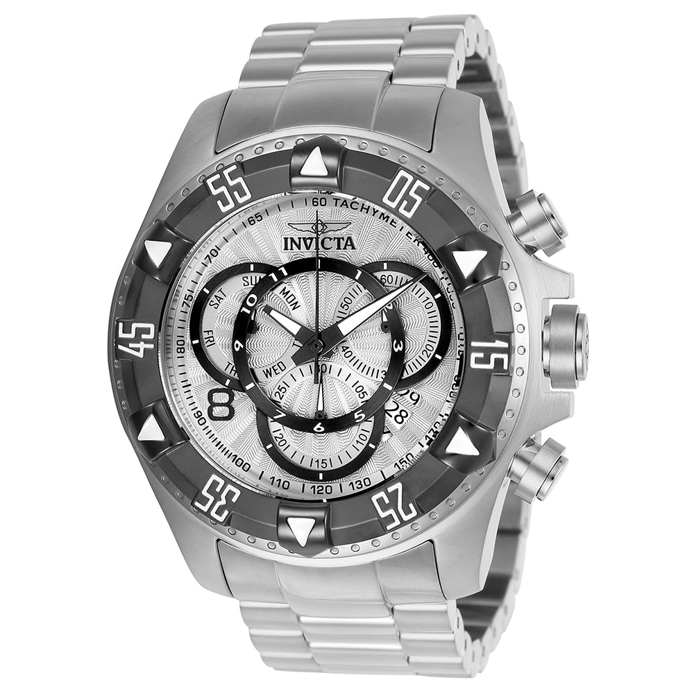 INVICTA Excursion Men 52mm Stainless Steel Titanium + Stainless Steel Silver dial Z60 Quartz 24262