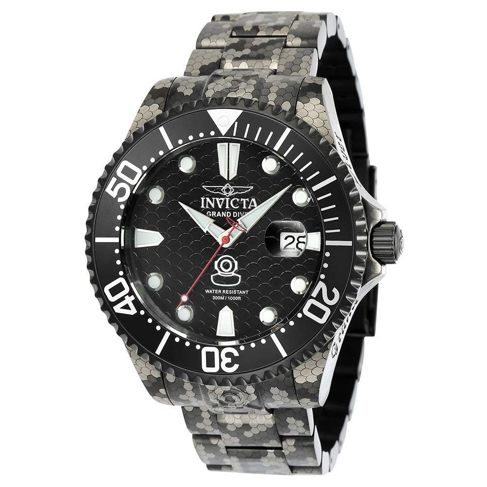 INVICTA Pro Diver Men 47mm Stainless Steel Black Black dial NH35A Automatic 24420
