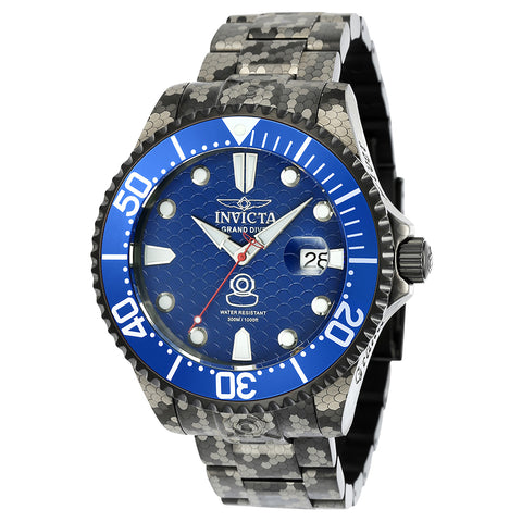 INVICTA Pro Diver Men 47mm Stainless Steel Black Navy Blue dial NH35A Automatic 24421