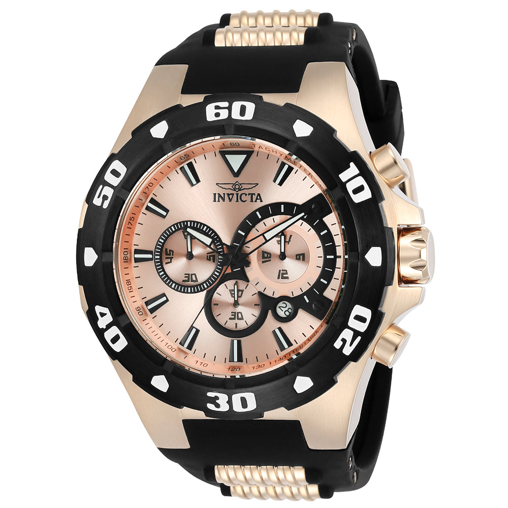 INVICTA Pro Diver Men 52mm Stainless Steel Rose Gold Rose Gold dial VD53 Quartz 24683