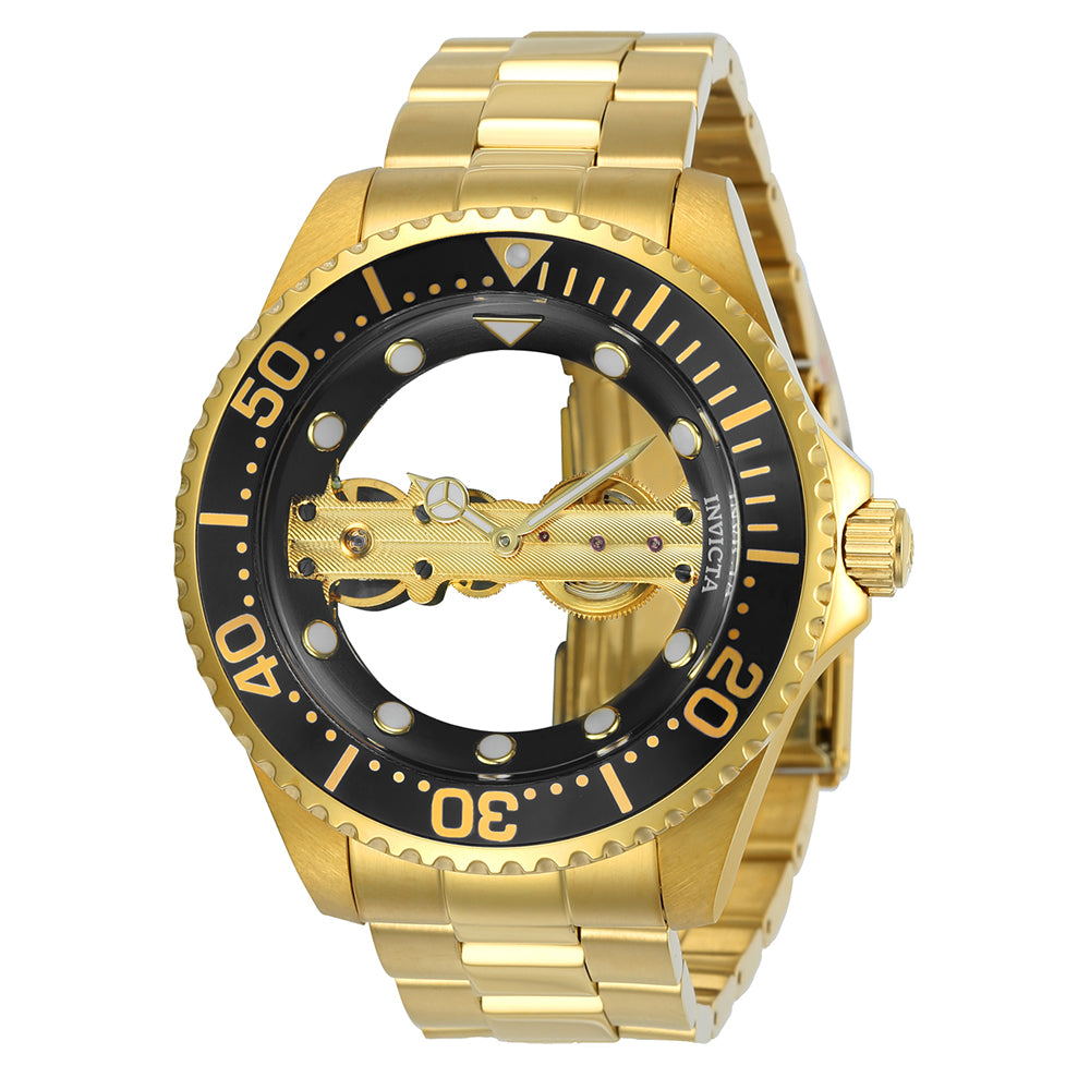 INVICTA Pro Diver Men 47mm Stainless Steel Gold Blue dial JQ-R005 (Gilt) Mechanical