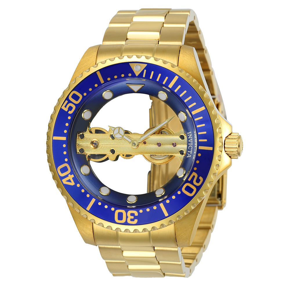 INVICTA Pro Diver Men 47mm Stainless Steel Gold Blue dial JQ-R005 (Gilt) Mechanical 24695