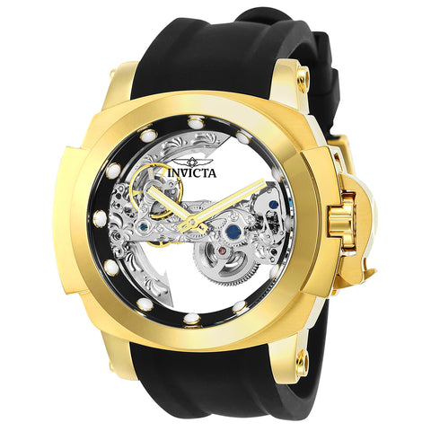 INVICTA Coalition Forces Men 48mm Stainless Steel Gold Black dial LG0801B Automatic 24708