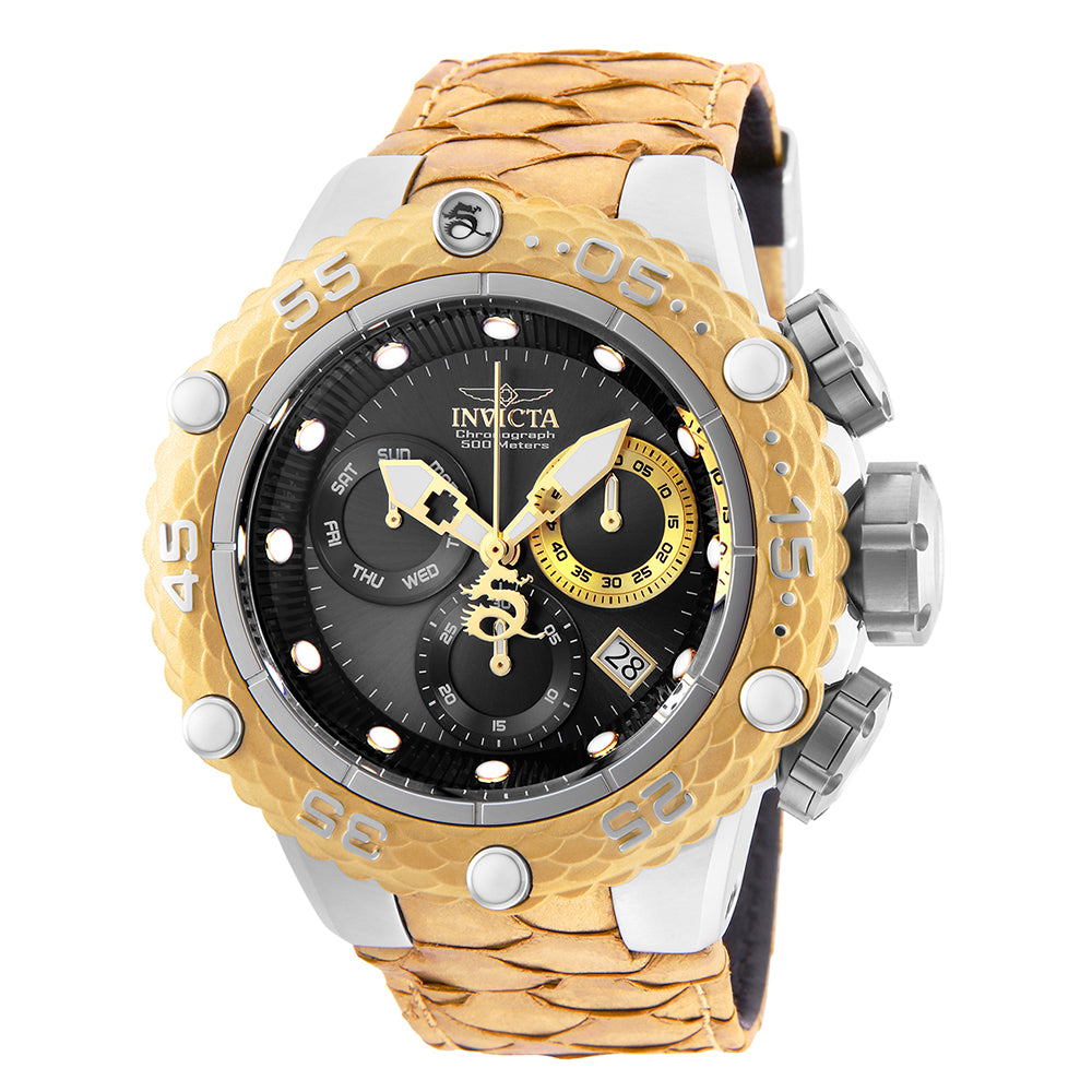 INVICTA Subaqua Men 51.2mm Stainless Steel Gold + Stainless Steel Gunmetal dial Z60 Quartz 25067
