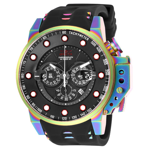 INVICTA I-Force Men 50mm Stainless Steel Rainbow Plating Black dial VD53 Quartz 25276