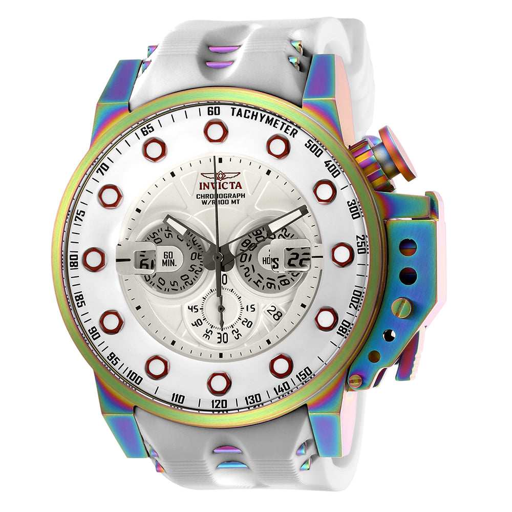 INVICTA I-Force Men 50mm Stainless Steel Rainbow Plating Silver dial VD53 Quartz 25277
