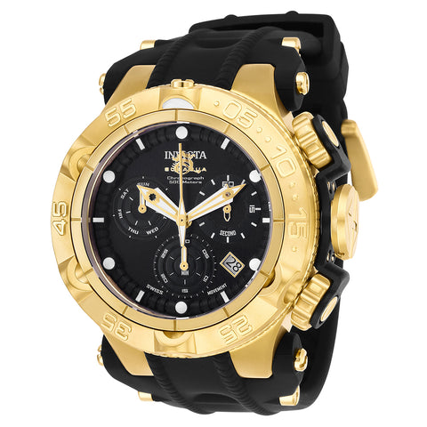 INVICTA Subaqua Men 50mm Stainless Steel + Plastic Gold + Black Black dial Z60 Quartz 25354