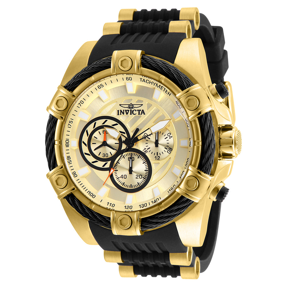 INVICTA Bolt Men 52mm Stainless Steel Gold Gold dial VD54 Quartz 25526