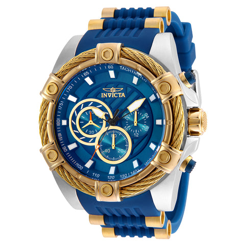 INVICTA Bolt Men 52mm stainless steel Blue dial VD54 Quartz 25529