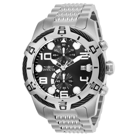 INVICTA Pro Diver Men 53mm Stainless Steel Stainless Steel Black dial NH35A Automatic