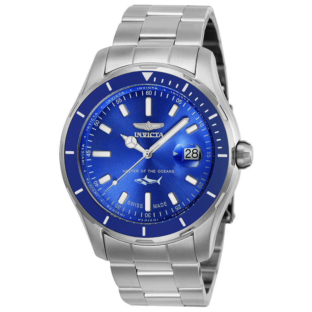 INVICTA Pro Diver Men 44mm stainless steel Blue dial 515 Quartz 25807