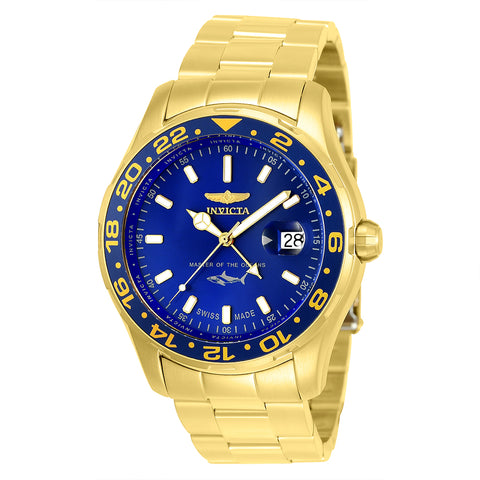 INVICTA Pro Diver Men 44mm Stainless Steel Gold Blue dial 515.24H Quartz 25823