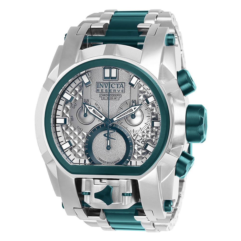INVICTA Reserve Men 52mm Stainless Steel Green + Stainless Steel Silver+Green dial Z60 Quartz 25950