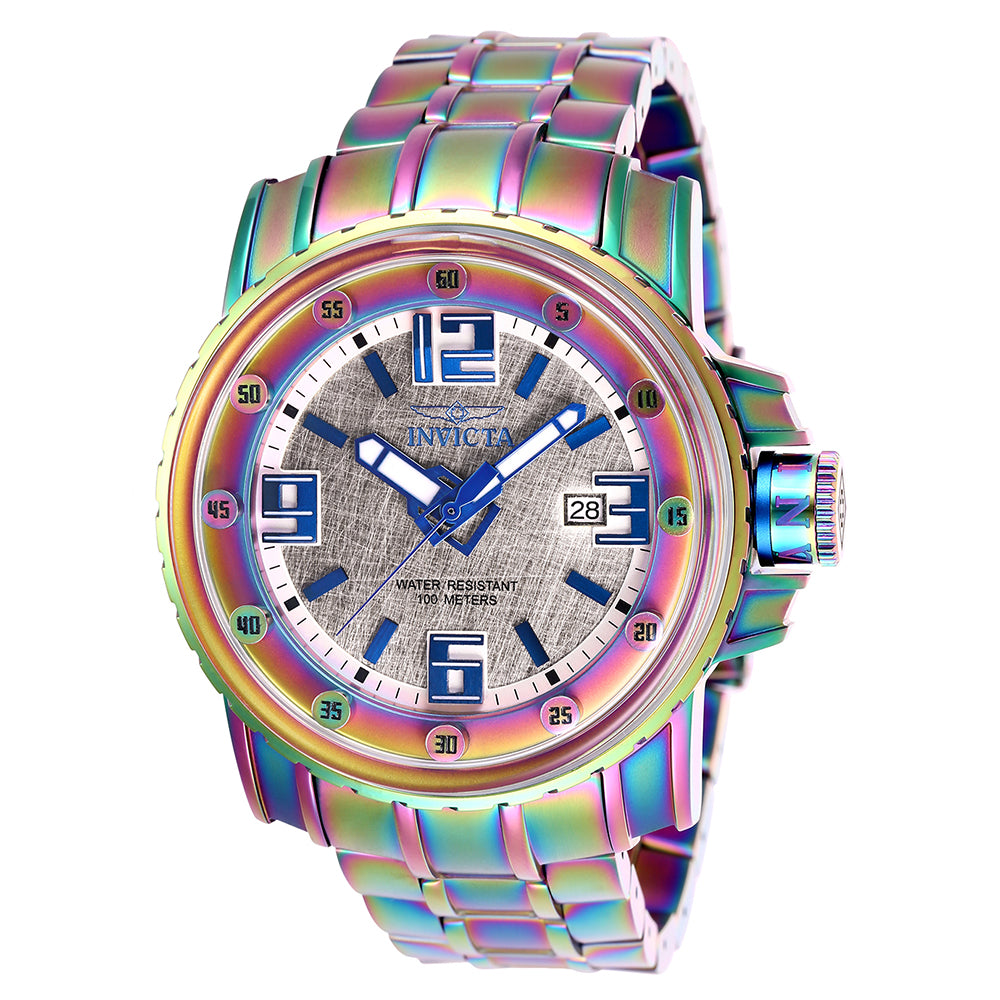 INVICTA Pro Diver Men 49mm Stainless Steel Iridescent Silver dial NH35A Automatic 26030