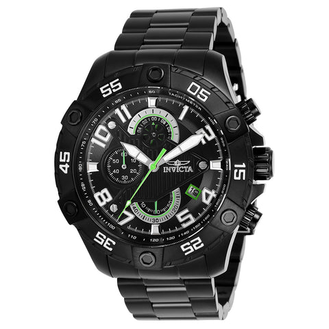 INVICTA S1 Rally Men 48mm Stainless Steel Black Black dial VD57 Quartz 26101