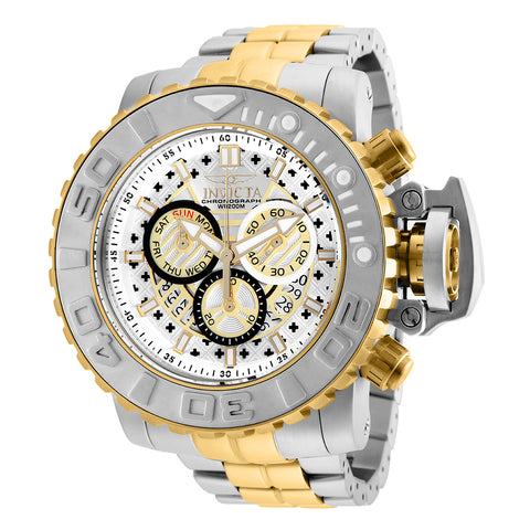 INVICTA Sea Hunter Men 58mm Stainless Steel Gold + Stainless Steel Silver dial Z60 Quartz 26106