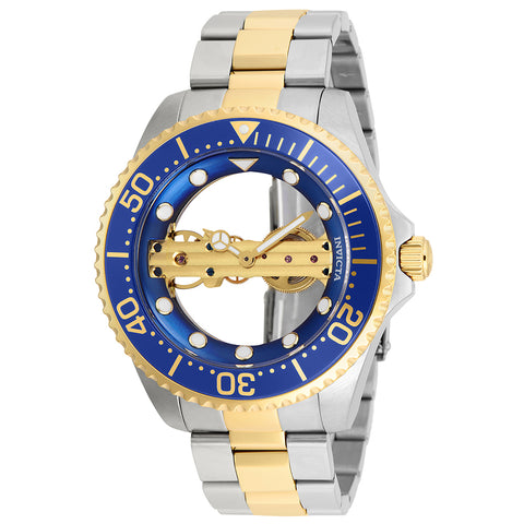 INVICTA Pro Diver Men 47mm Stainless Steel Gold + Stainless Steel Blue dial JQ-R005 (Gilt) Mechanical 26243