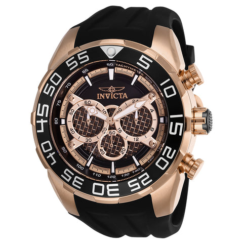 INVICTA Speedway Men 50mm Stainless Steel Rose Gold Black+Rose Gold dial VD54 Quartz 26304