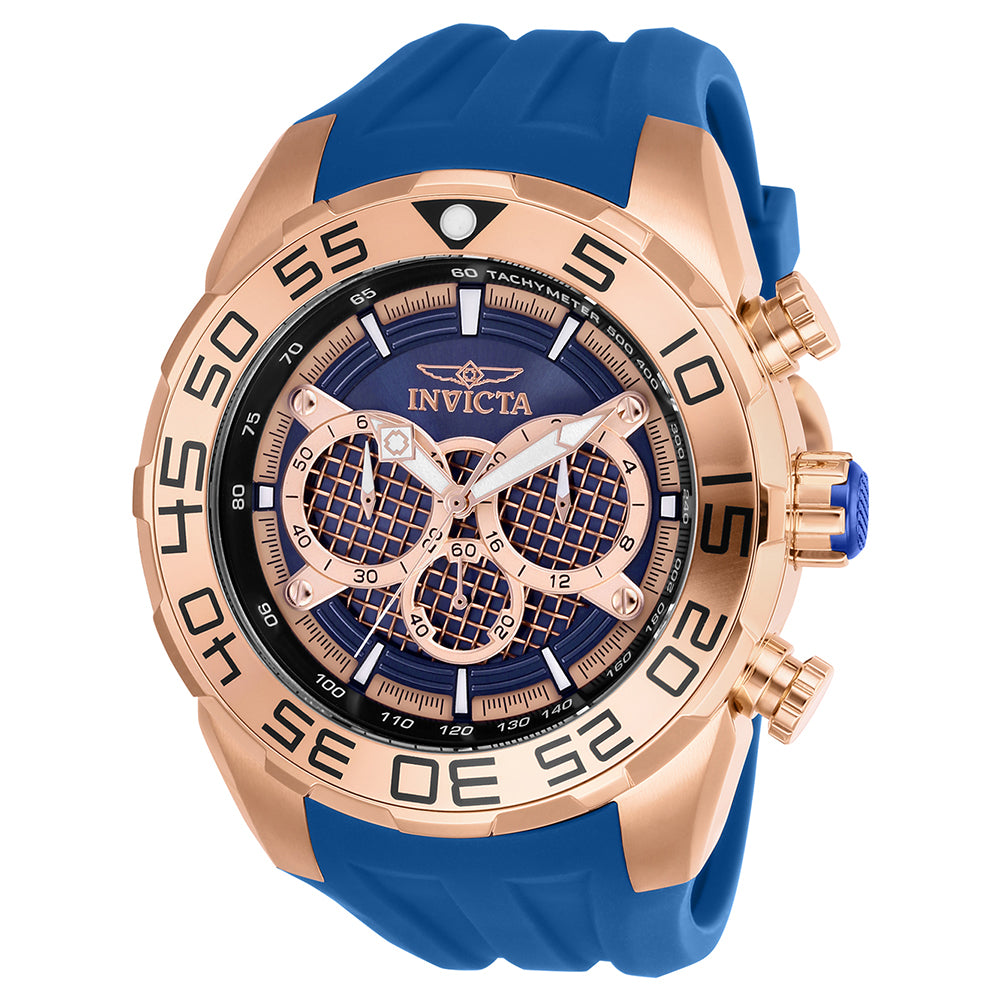 INVICTA Speedway Men 50mm Stainless Steel Rose Gold Blue+Rose Gold dial VD54 Quartz 26305